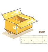 0201 Regular Slotted Container (RSC)