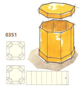 0351 Octagonal Double Cover Container (DC)