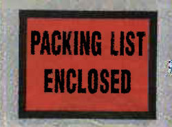 Packing List Envelopes and Labels